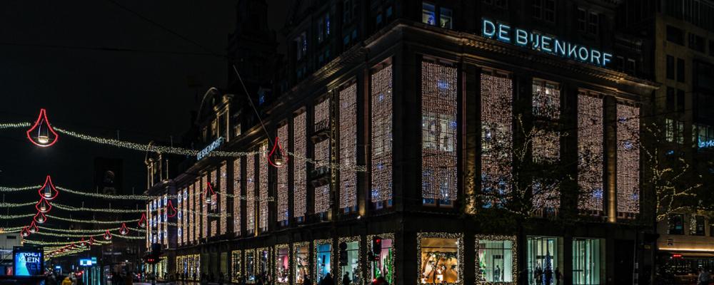 Kerstverlichting - Bijenkorf - Amsterdam
