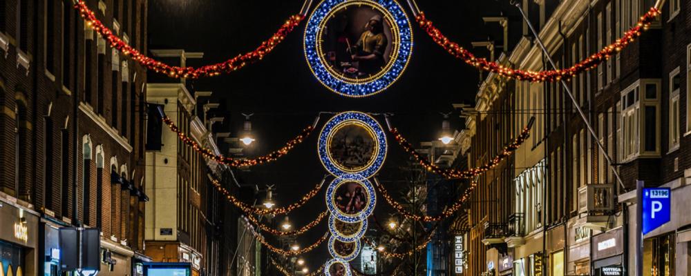 Kerstverlichting - Binnenstad - Amsterdam