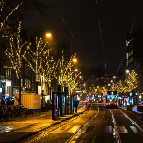 Kerstverlichting - Boom - Amsterdam